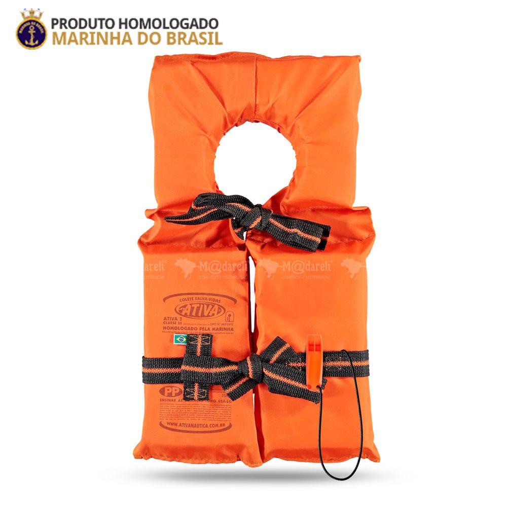 Colete Salva Vidas Classe III Homologado pela Marinha