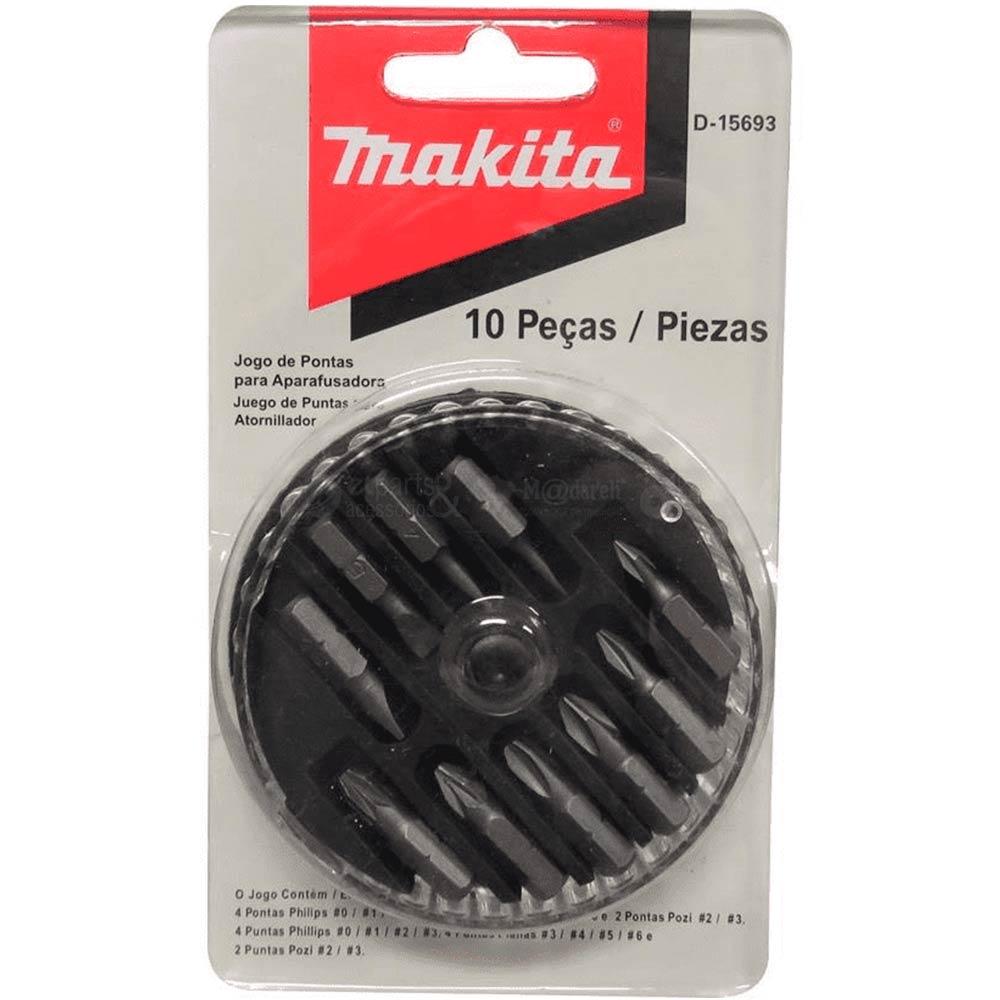 Conjunto de Pontas para Parafusadeira 10 peças - Makita