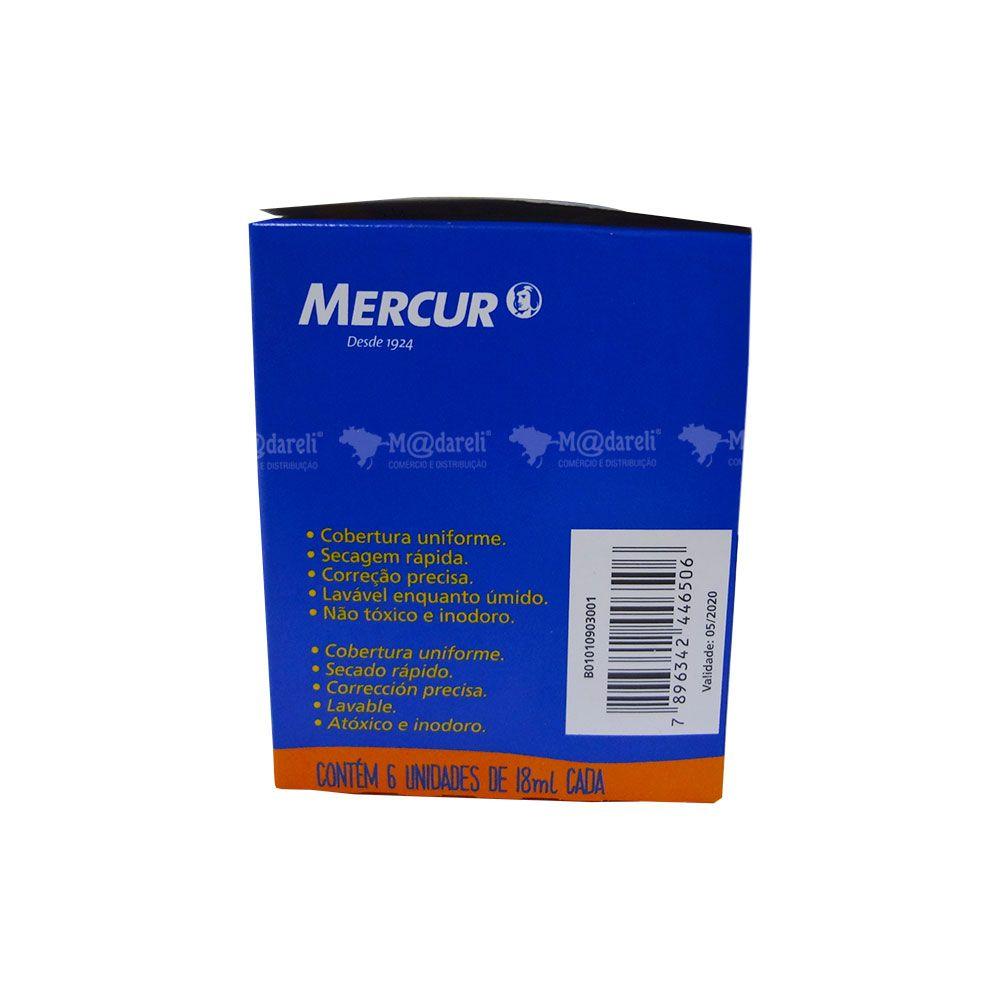 Corretivo Líquido 18ml Base D'agua Caixa 6 unidades Mercur