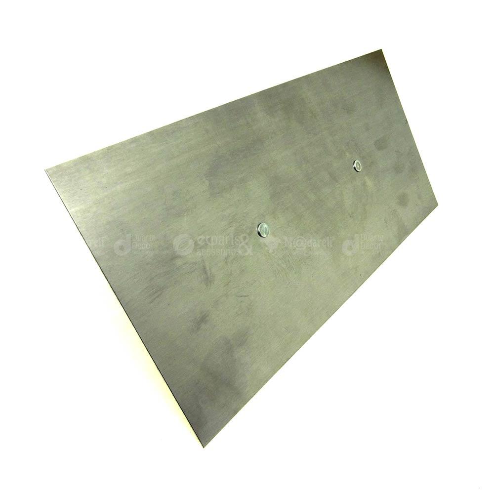 Desempenadeira de Aço lisa 12 x 25cm Cabo de Madeira Compel