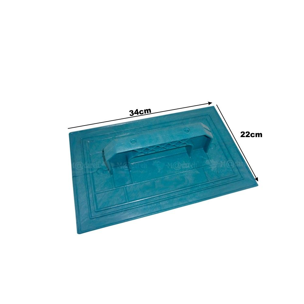 Desempenadeira Skillo Plástica 22cm x 34cm - Corrugada
