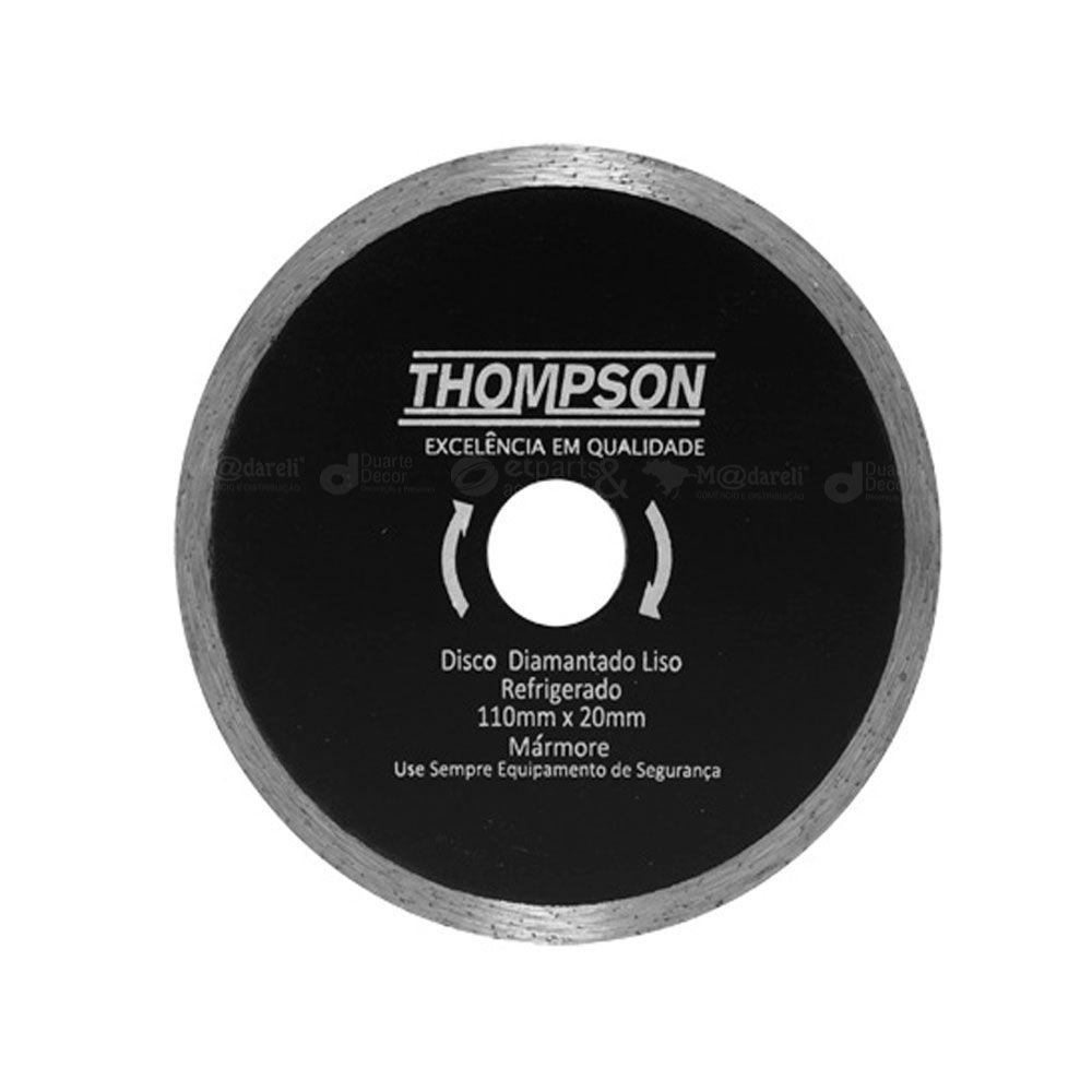 Disco De Corte Diamantado Liso Marmore 110x20mm Thompson
