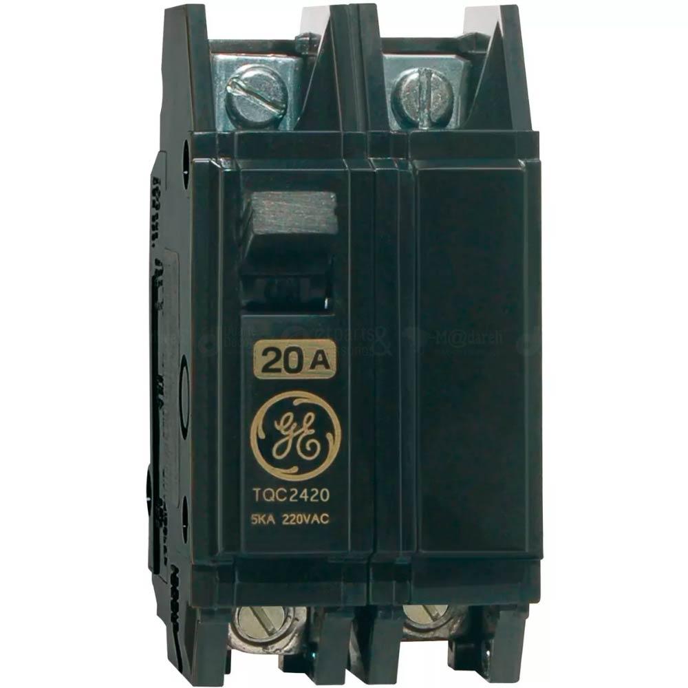 Disjuntor Bipolar NEMA Termomagnético 10A, 20A ou 40A - GE