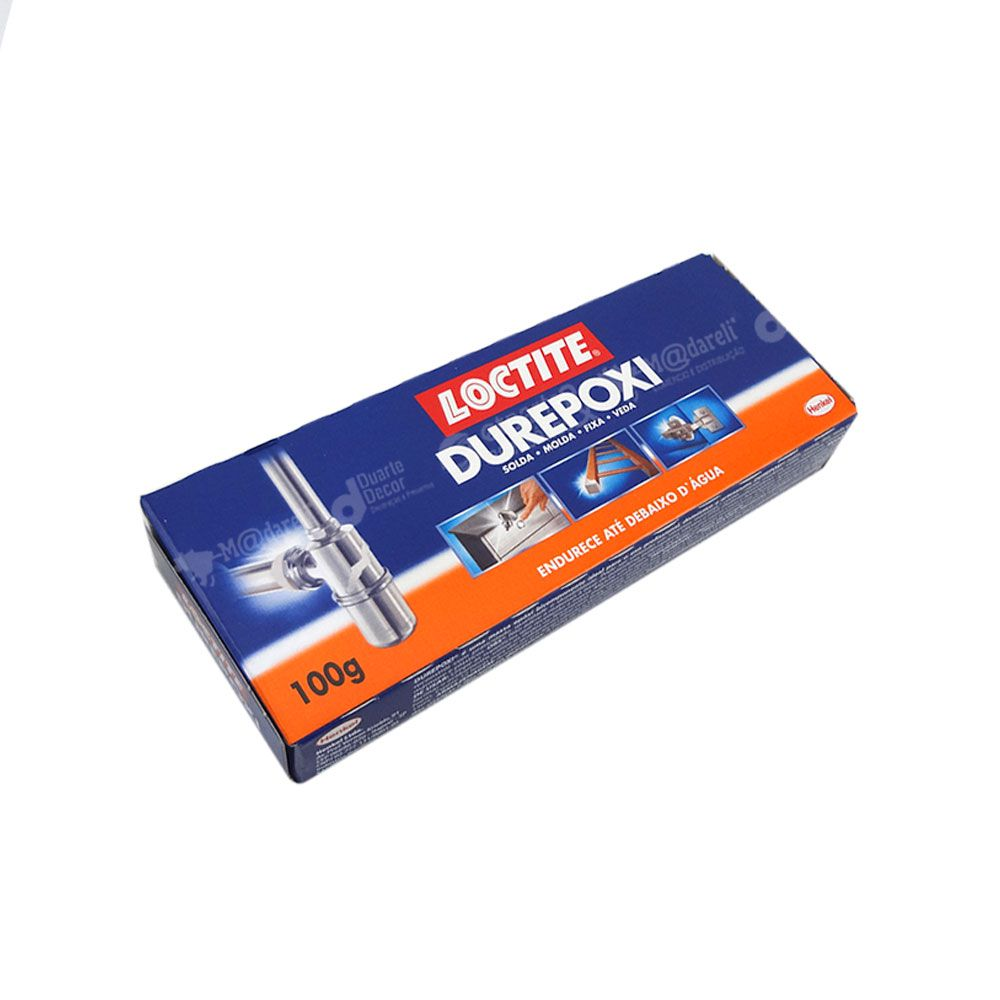 Durepoxi Cola Massa Fixa Veda Solda Molda 100g Loctite