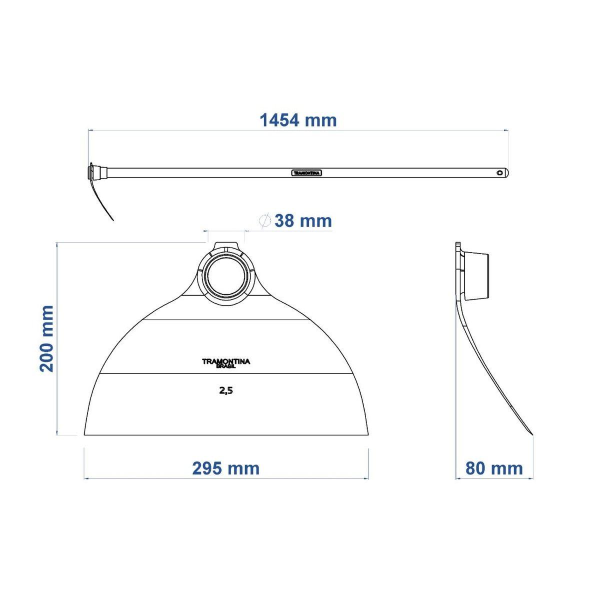 Enxada Canavieira Goivada com Olho de 38 mm e Cabo de 1,5m