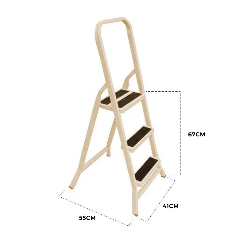 Escada Doméstica de Metalon 3 degraus - Plasmar