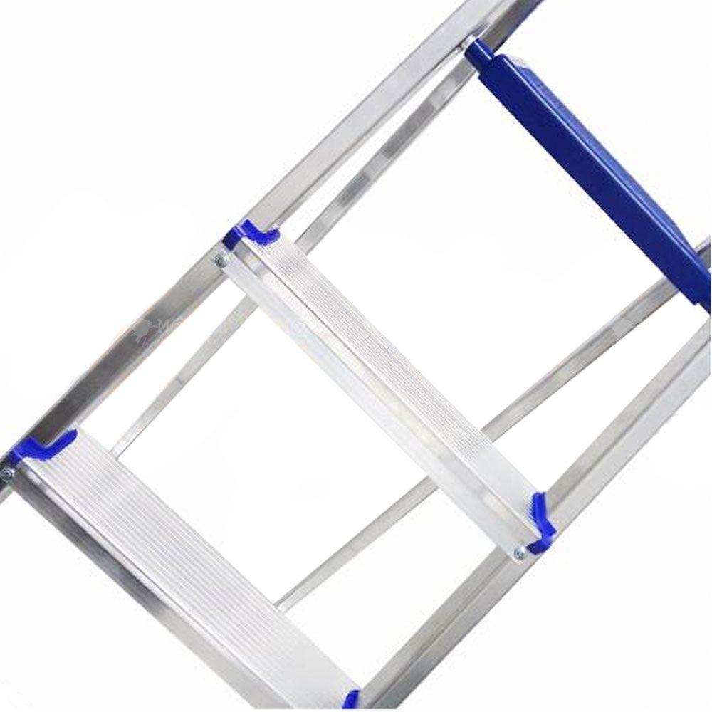 Escada Doméstica Dobrável em Alumínio 5 Degraus - Alume