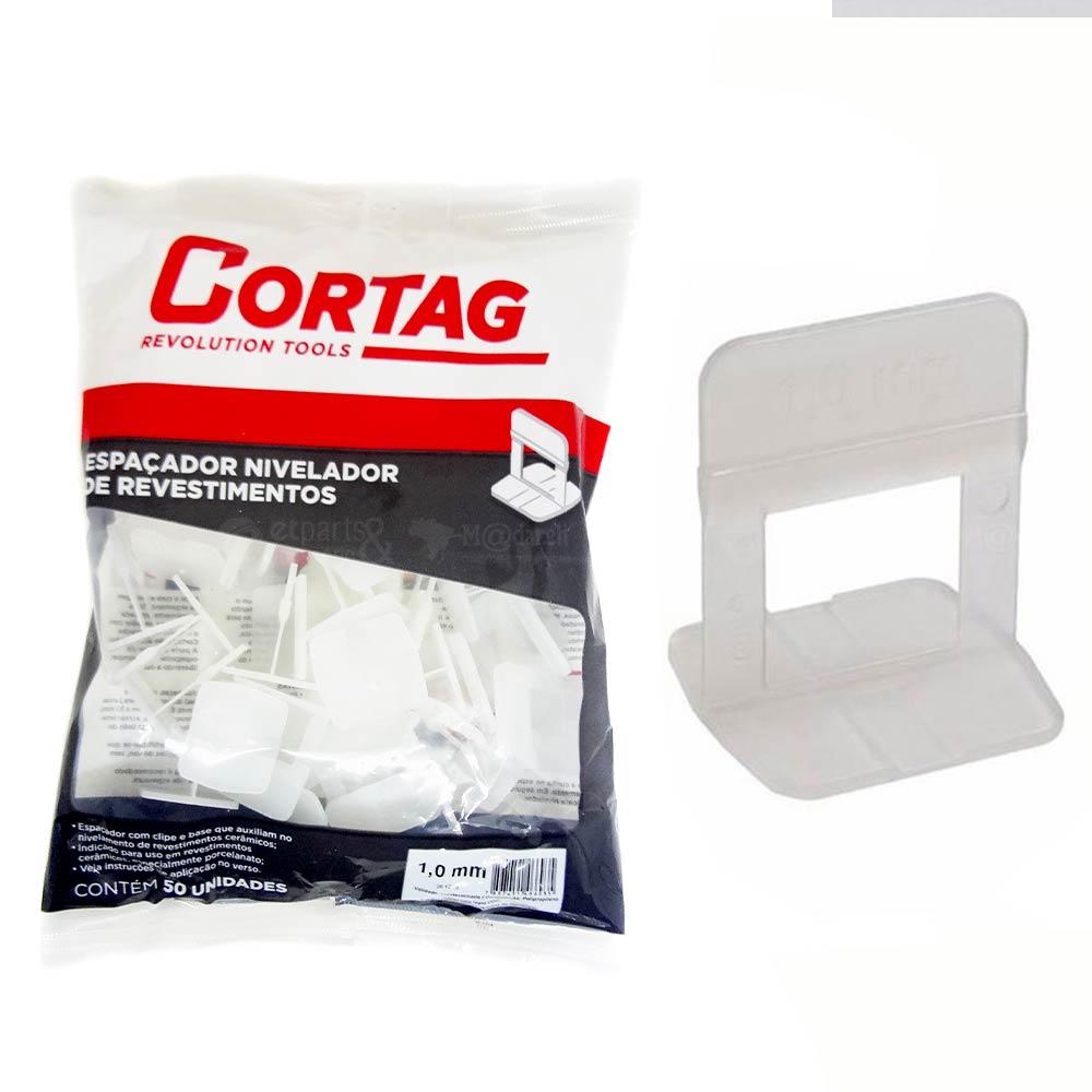 Espaçador para Nivelamento de Piso 1 mm 50 un - Cortag