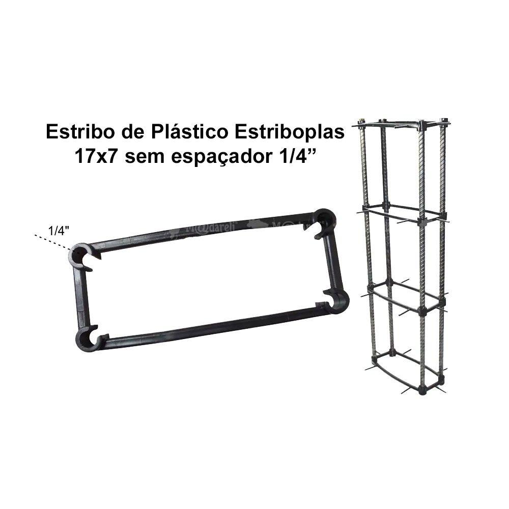 """Estribo De Plastico Estriboplas 17 x 7 x 1/4""""  Sem Espaçador"""