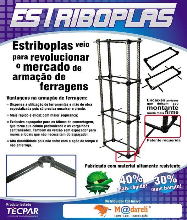 Estribo Plastico armação ferragem Estriboplas 17x7x 3/8 - com Espaçador