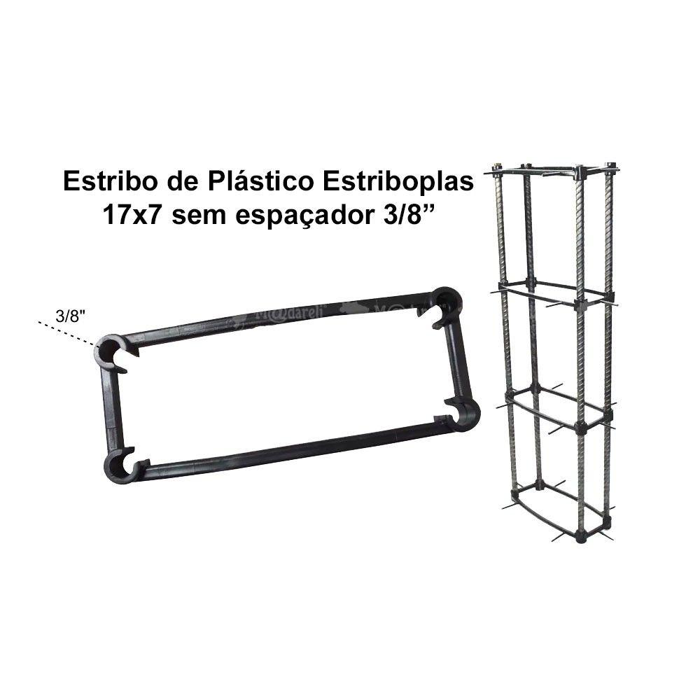 """Estribo de Plastico Estriboplás 17 x 7 x 3/8"""" Sem Espaçador"""