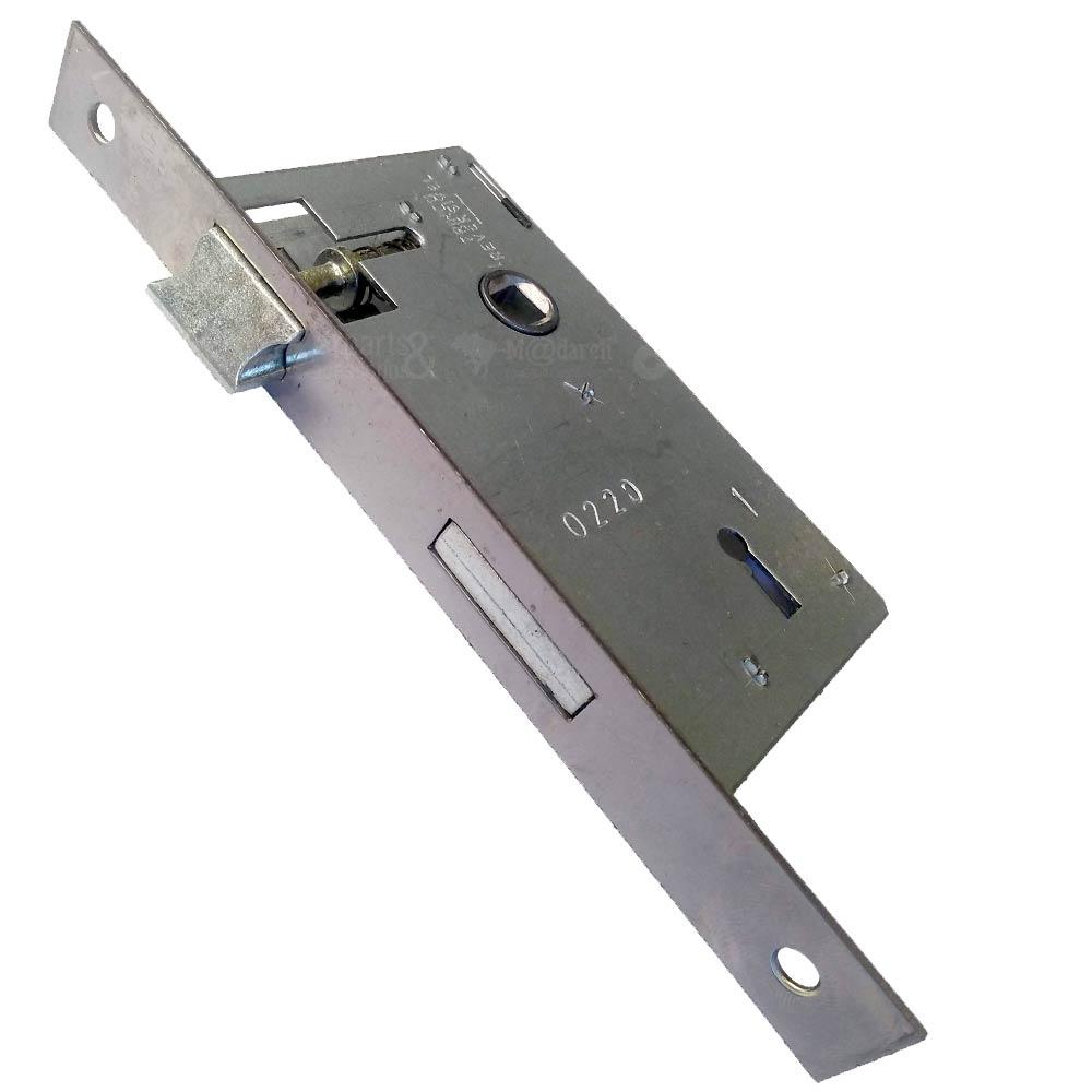 Fechadura Interna 40mm Roseta Nápoli Alumínio - MGM