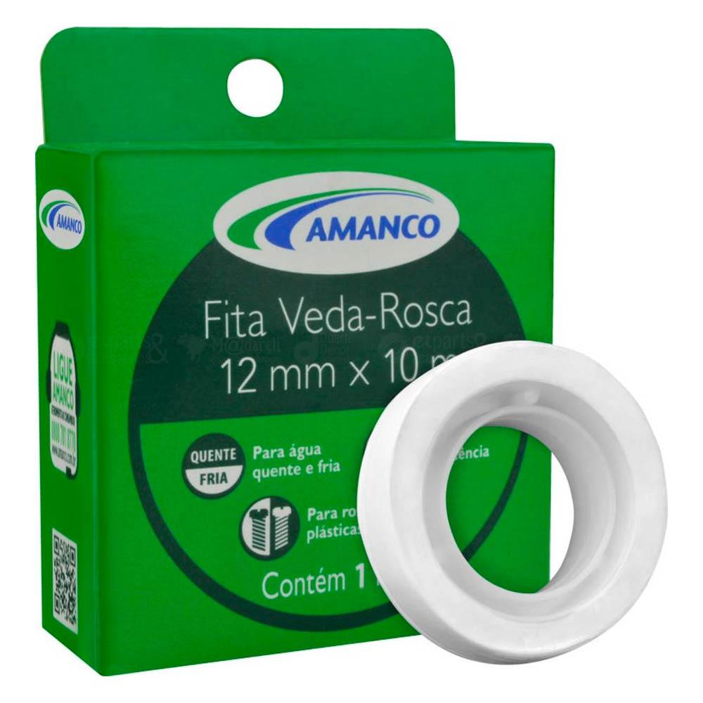 Fita Veda Rosca 18mm x 25m Amanco - Caixa com 30 Unidades