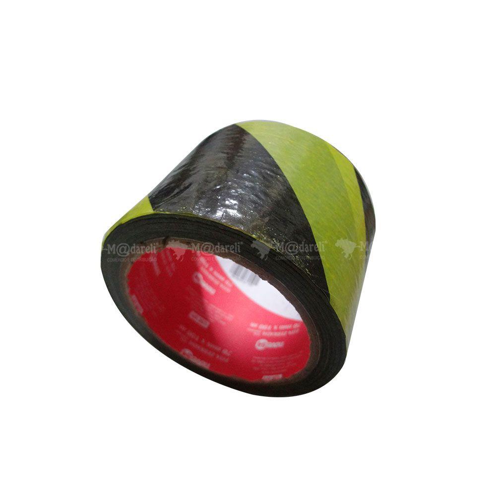 Fita Zebrada sem Adesivo de 70mm x 100m - NOVE 54
