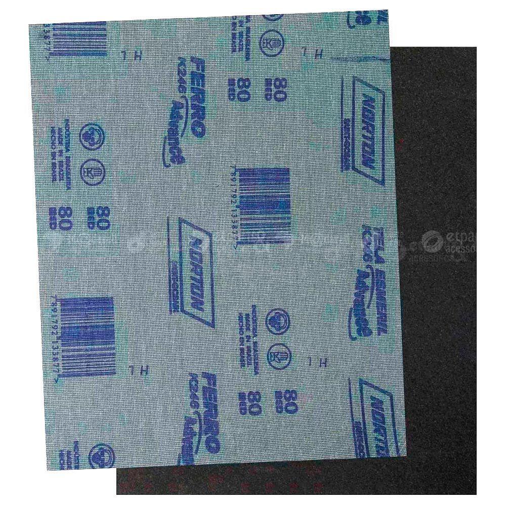 Folha De Lixa Ferro Norton K246 225 X 275mm Grão 80