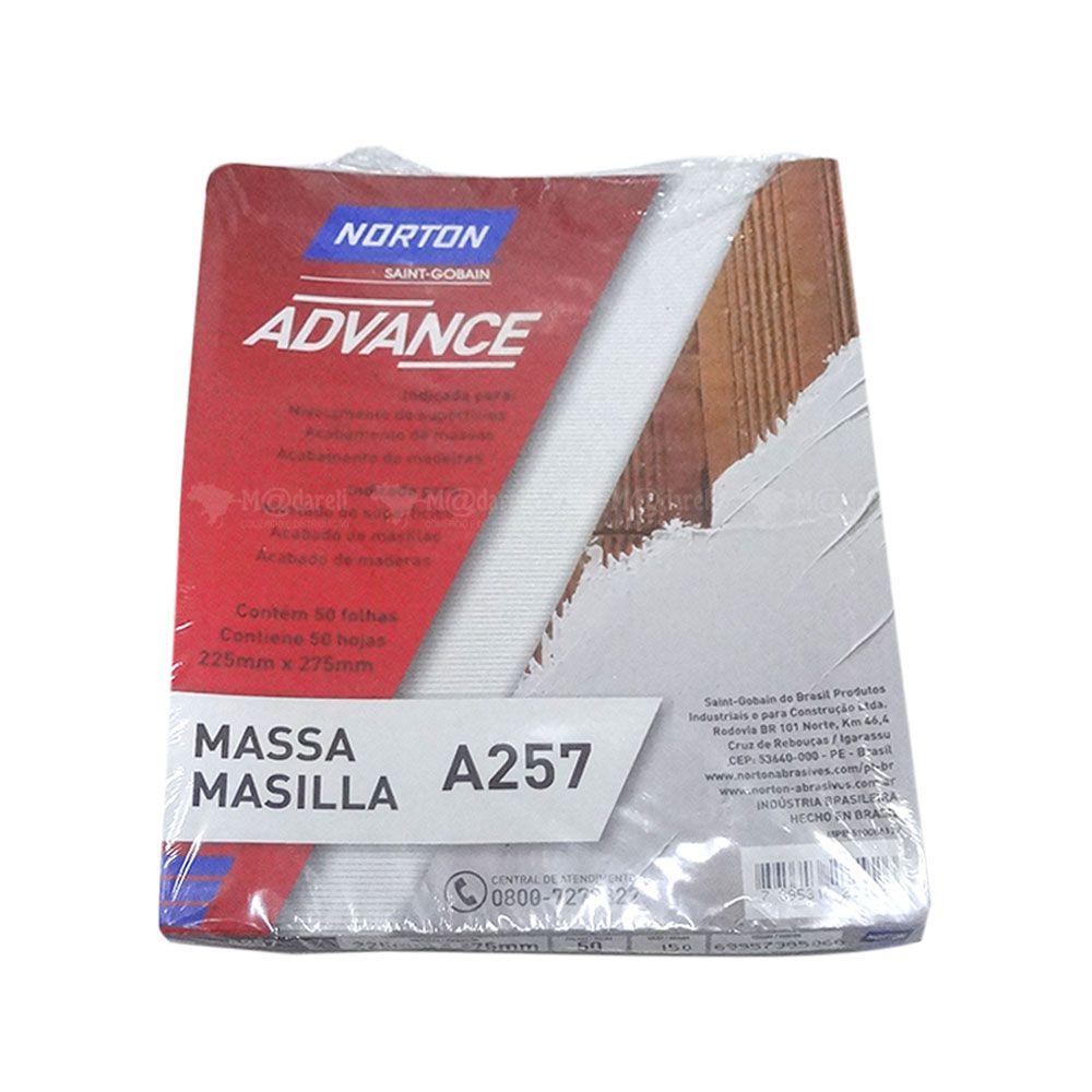Lixa Massa Grão 150 pacote com 50 Folhas - Norton