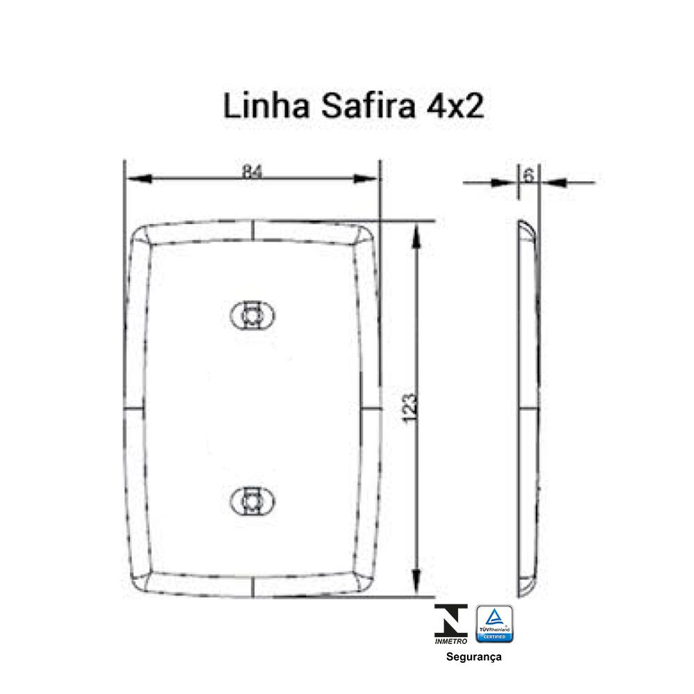 Interruptor Simples + Tomada 2p+t 20A Safira - Ilumi