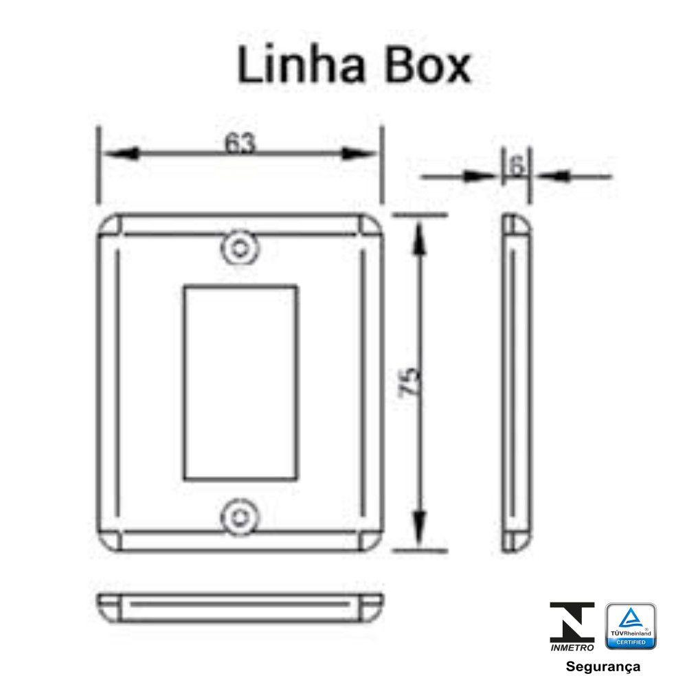 Interruptor 2 Teclas de Sobrepor Sistema X 6A - Ilumi
