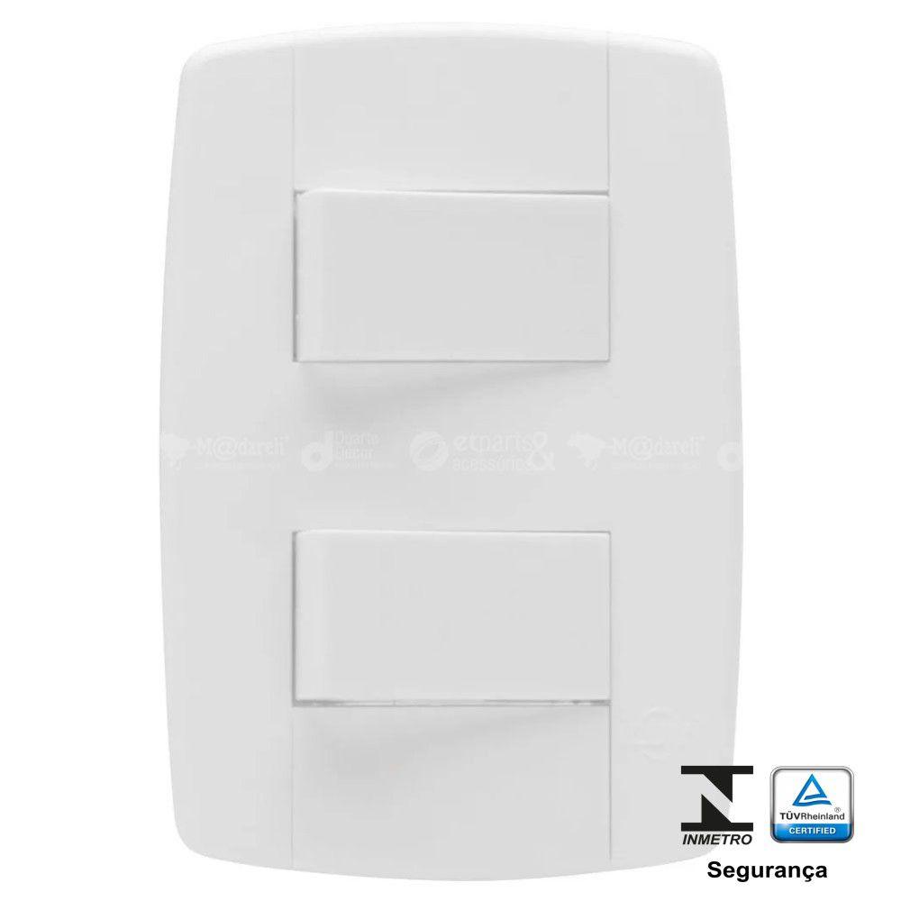Interruptor Duplo Simples 10A Modular Ilumi Lev
