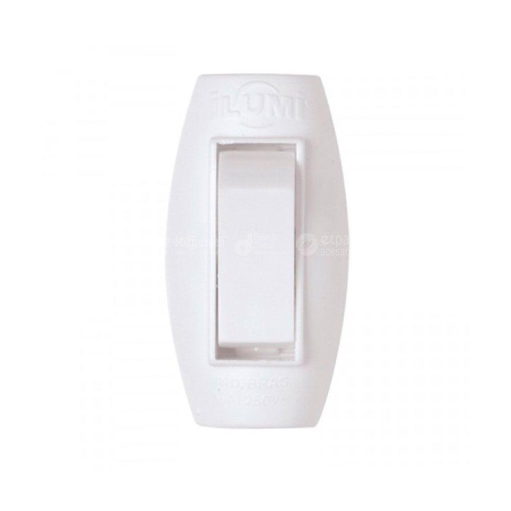 Interruptor Meio Cordão Simples Pêra Abajur 6A - Ilumi