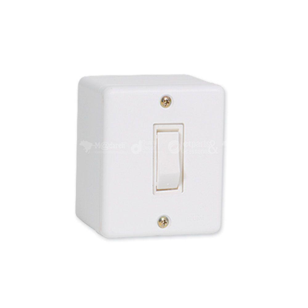 Interruptor Simples de Sobrepor Sistema X 6A - Ilumi