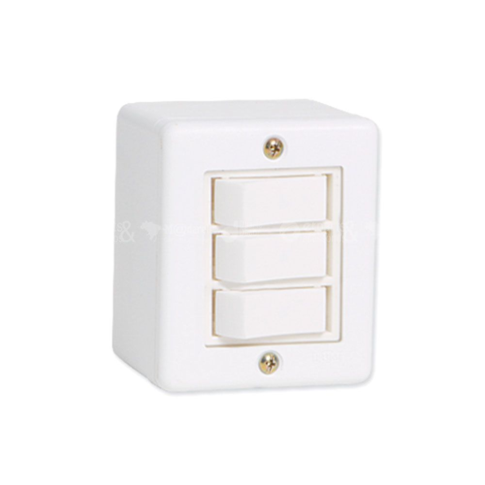 Interruptor Três Teclas de Sobrepor Sistema X 6A Ilumi