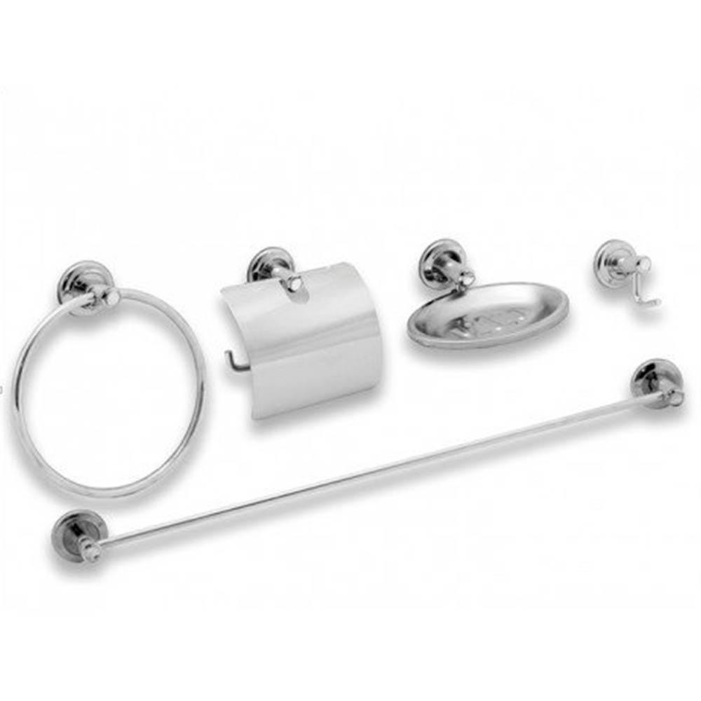 Kit Acessórios para Banheiro 5 peças Cromado - Pison