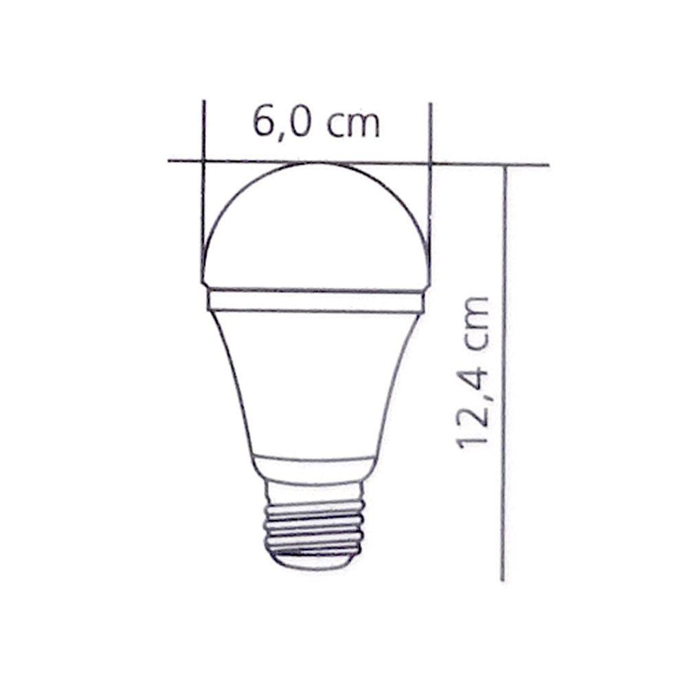 Lâmpada Led Bulbo Luz Branca Bivolt 12W 6500k 1050L- Foxlux