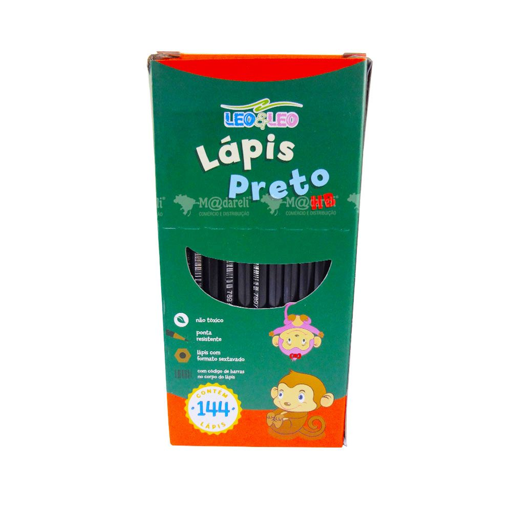 Lápis Preto HB NR 2 caixa com 144 unidades