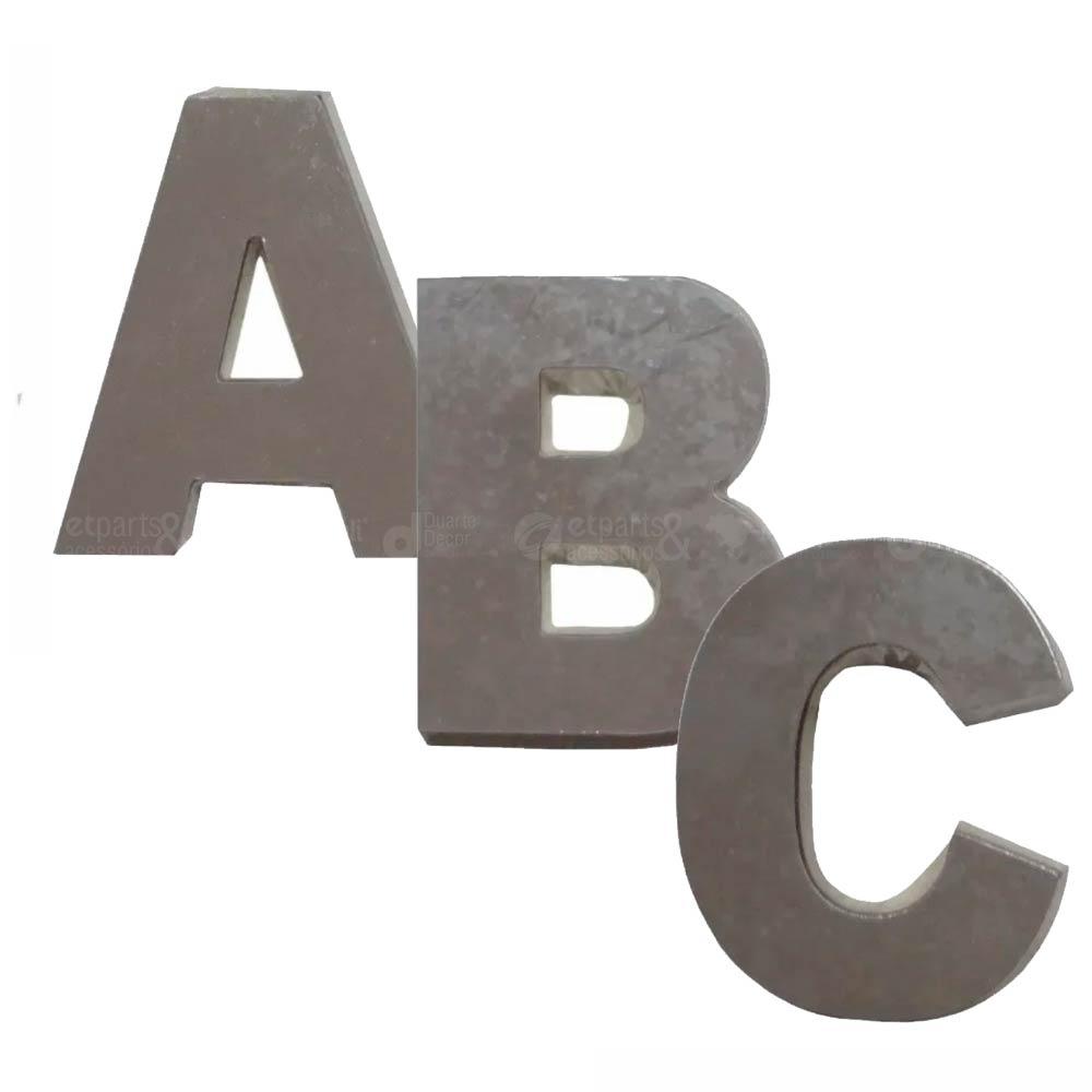 Letra Residencial em alumínio espelhado 9 cm