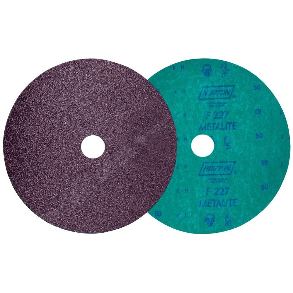 Lixa Disco de Fibra 115 x 22mm  Grão 80 F227 - 10 Unidades