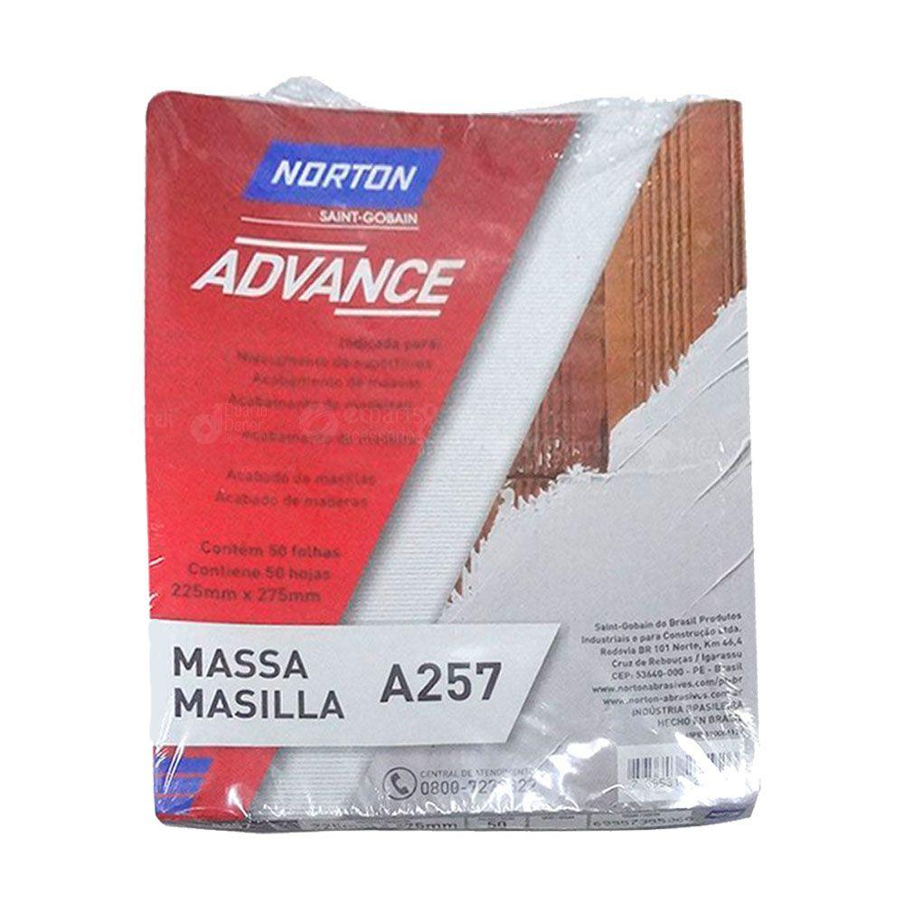 Lixa Massa Grão 80 pacote com 50 Folhas - Norton