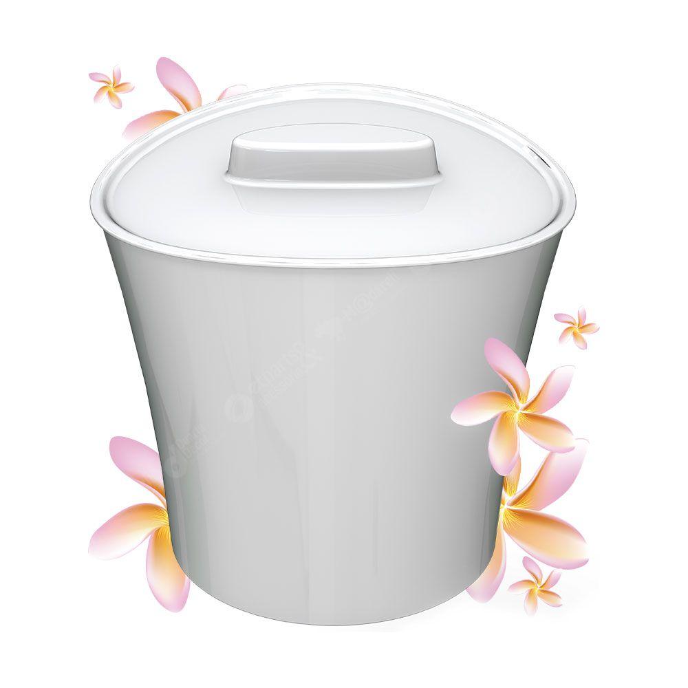Lixeira Bellart Floral Branca Perfumada 6 Litros