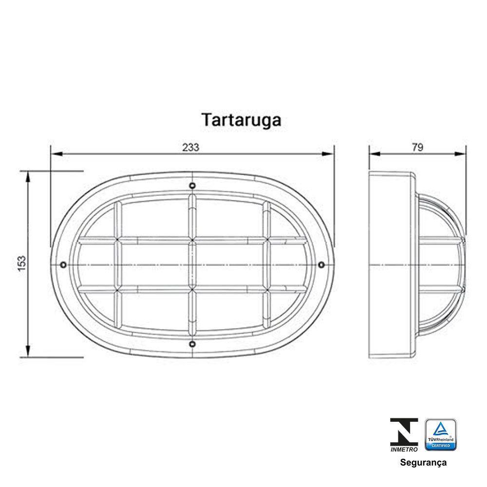 Luminária Tartaruga 23w / 25w Branca - Ilumi