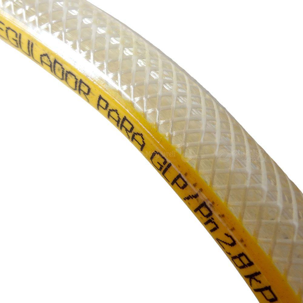 Mangueira para Gás Trançada Amarelo Acquaflex 120 cm