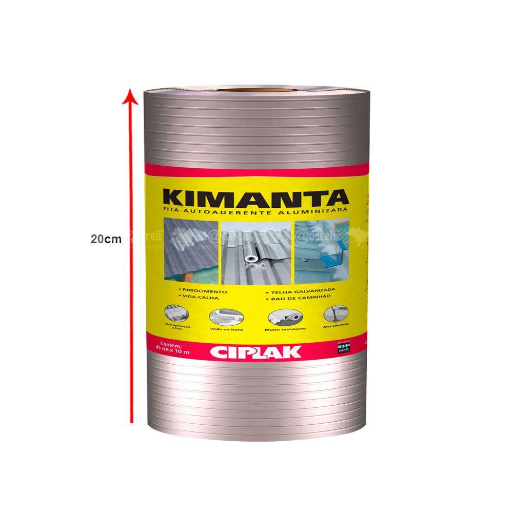 Manta Asfáltica Fita Aluminizada 20cm x 10m Kimanta - Ciplak