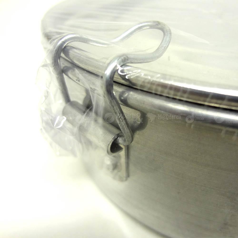 Marmita Redonda de Alumínio 16x16x7 cm Nº 16 - MSR