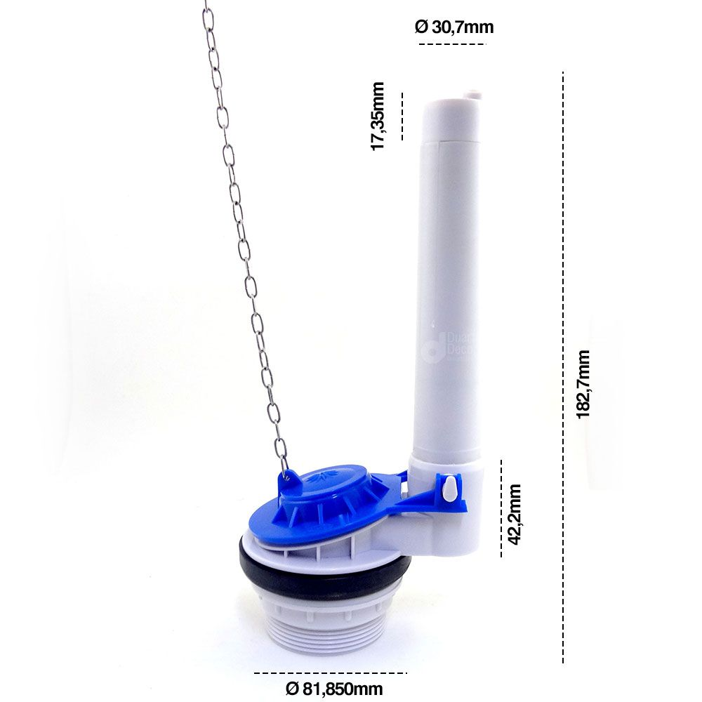 Mecanismo de Saída para Caixa de Descarga Acoplada Universal - Durín