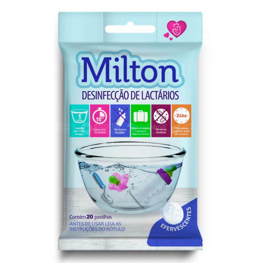 Milton para Desinfecção de Lactários - Cartela com 20 Pastilhas Efervescentes