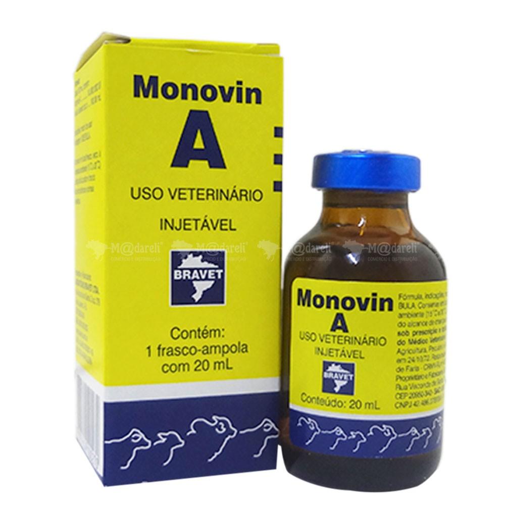 Monovin A Injetável 20 ML p/ Bovinos - Bravet