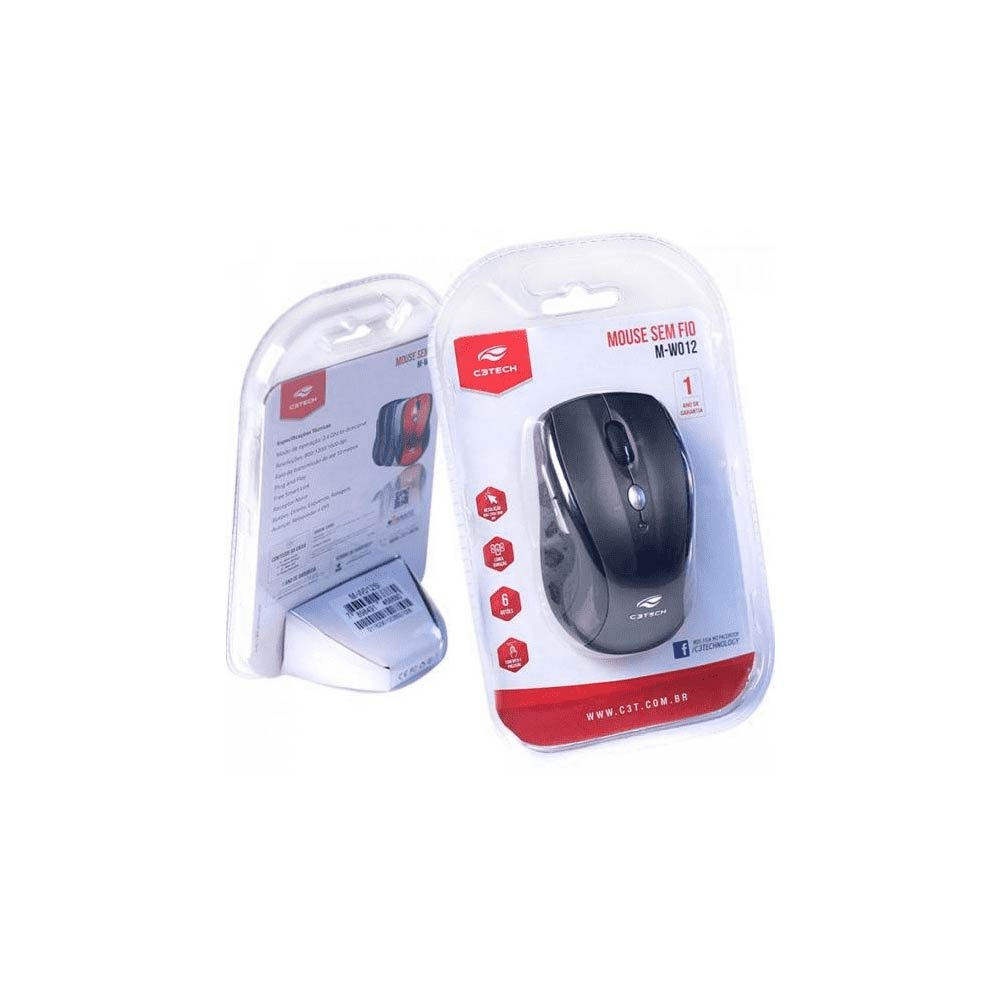 Mouse Sem Fio M-W012II V2 RC/NANO - C3Tech
