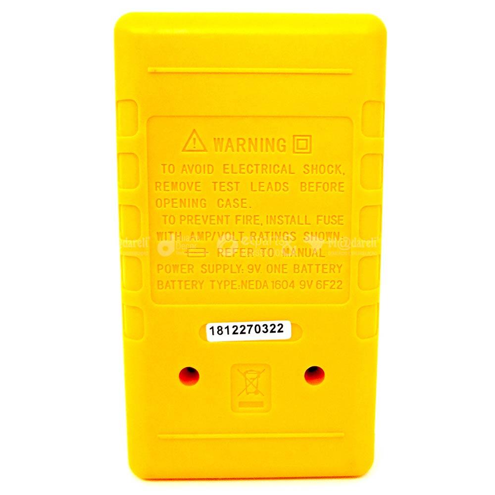 Multímetro Digital com Pontas de Prova e Bateria 978MD - Western