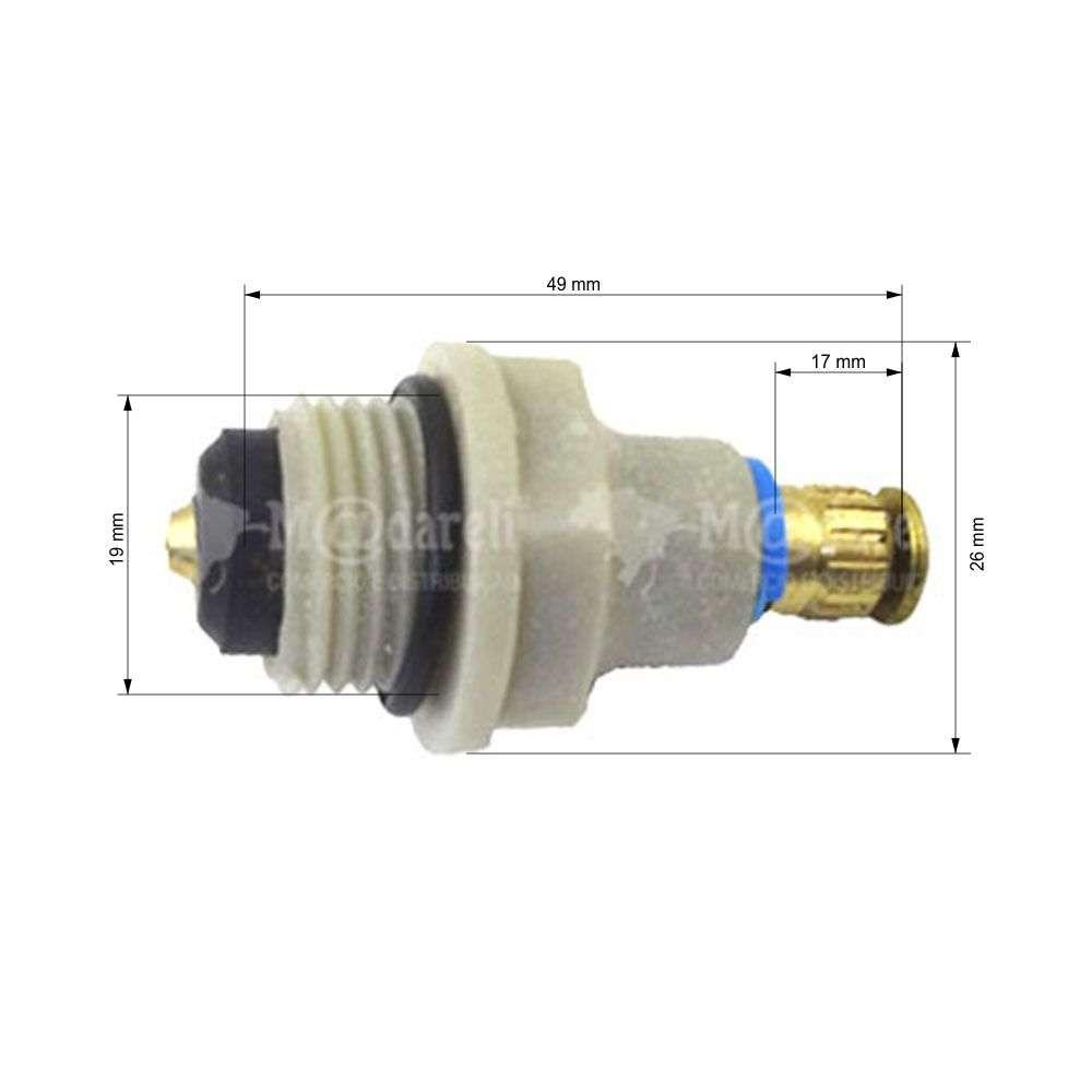 MVI Mecanismo de Reparo Pequeno Nylon Metal Rosca M19