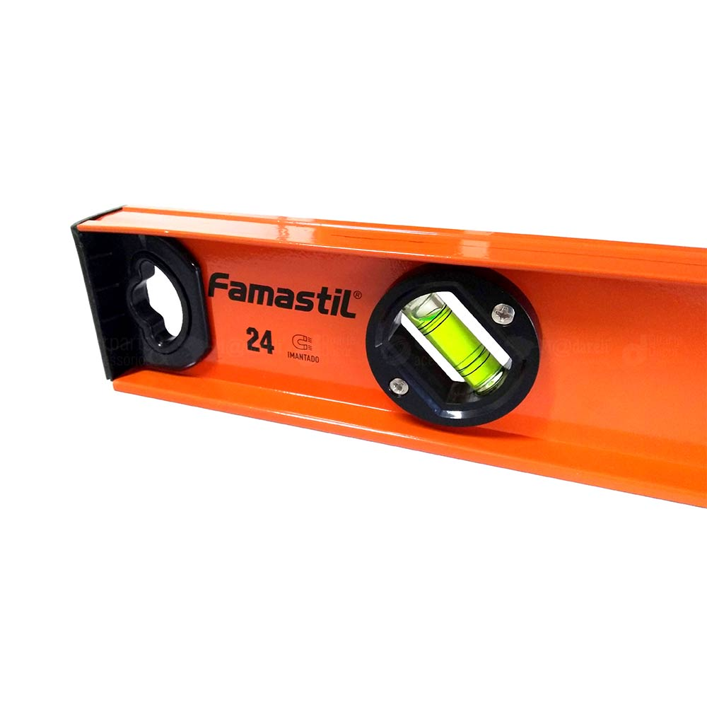 "Nível Alumínio 60cm 24"" Base Magnética - Famastil"