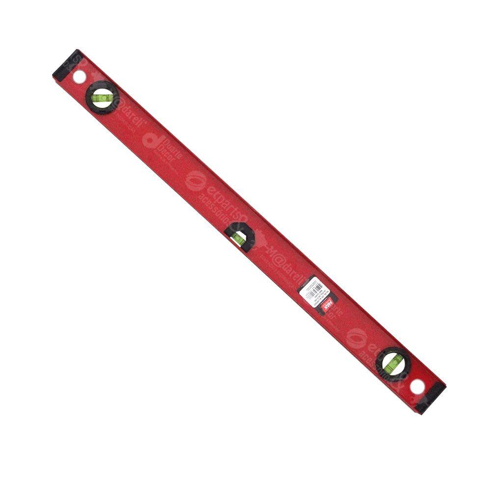 """Nivél de Alúminio Vermelho 24"""" / 61 cm - Max"""