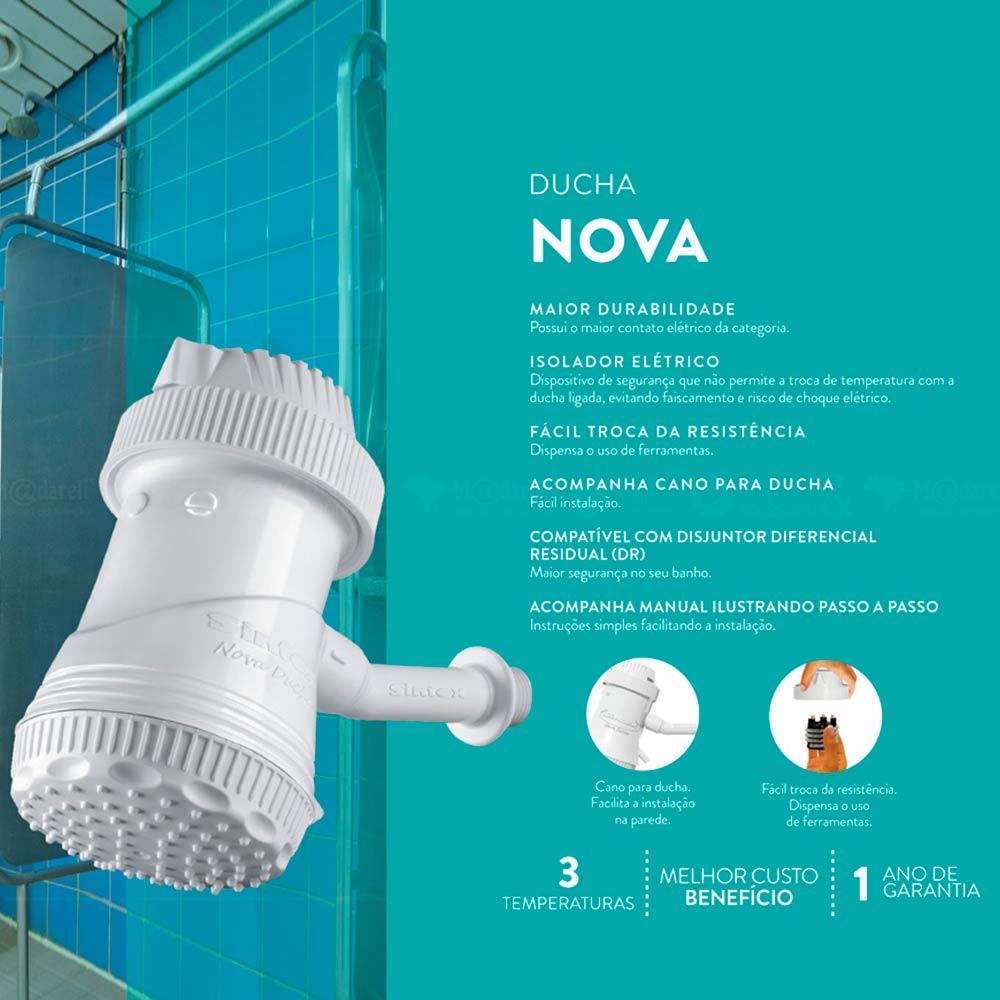 Nova Ducha Sintex 3 Temperaturas 5500W