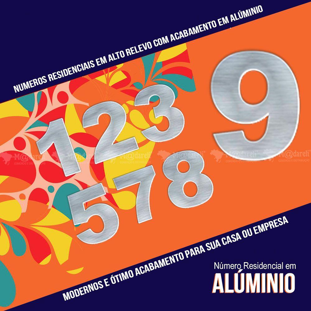 Número Residencial em Alumínio 15cm