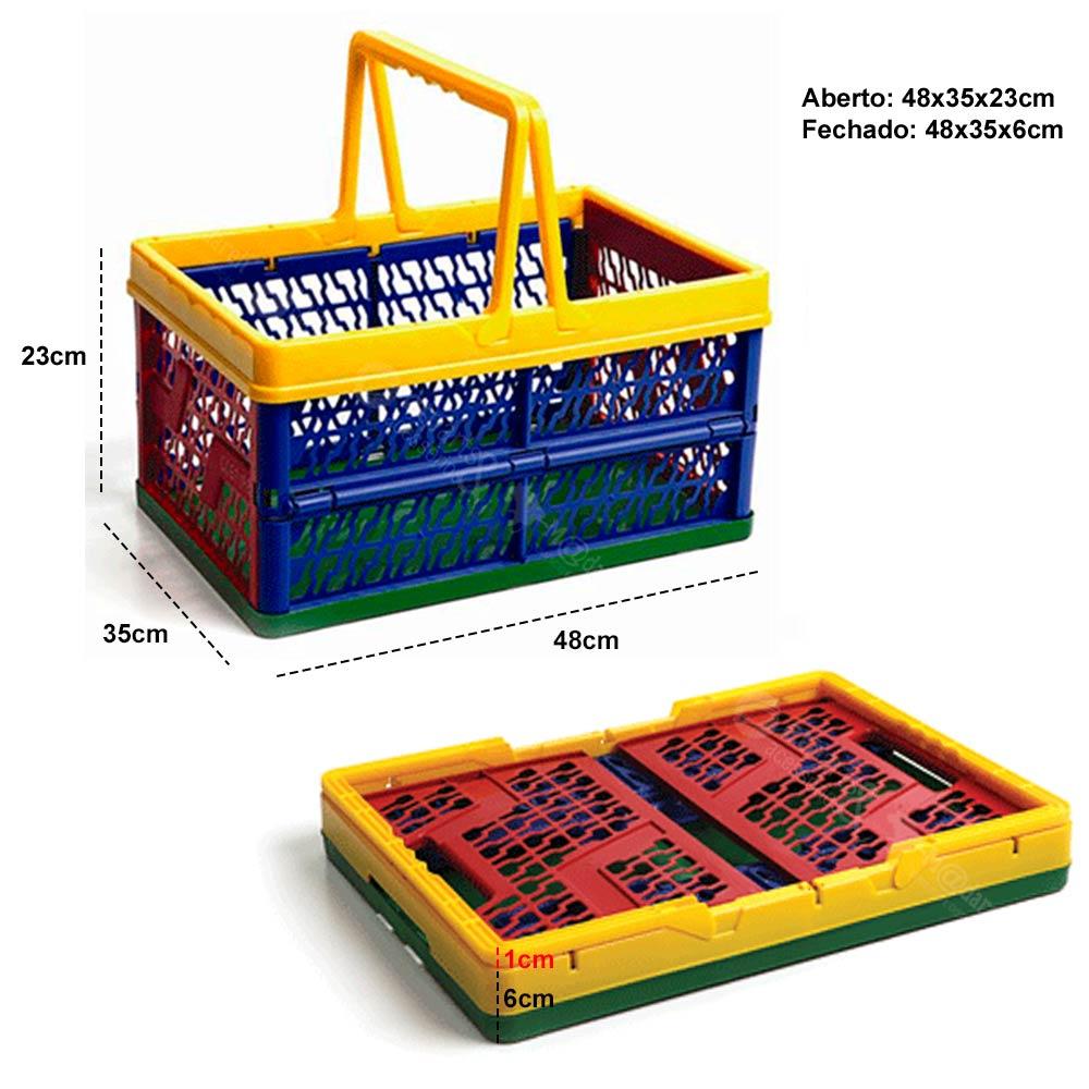 Organizador Prático Dobrável Multiuso com Alça 48x35x23cm