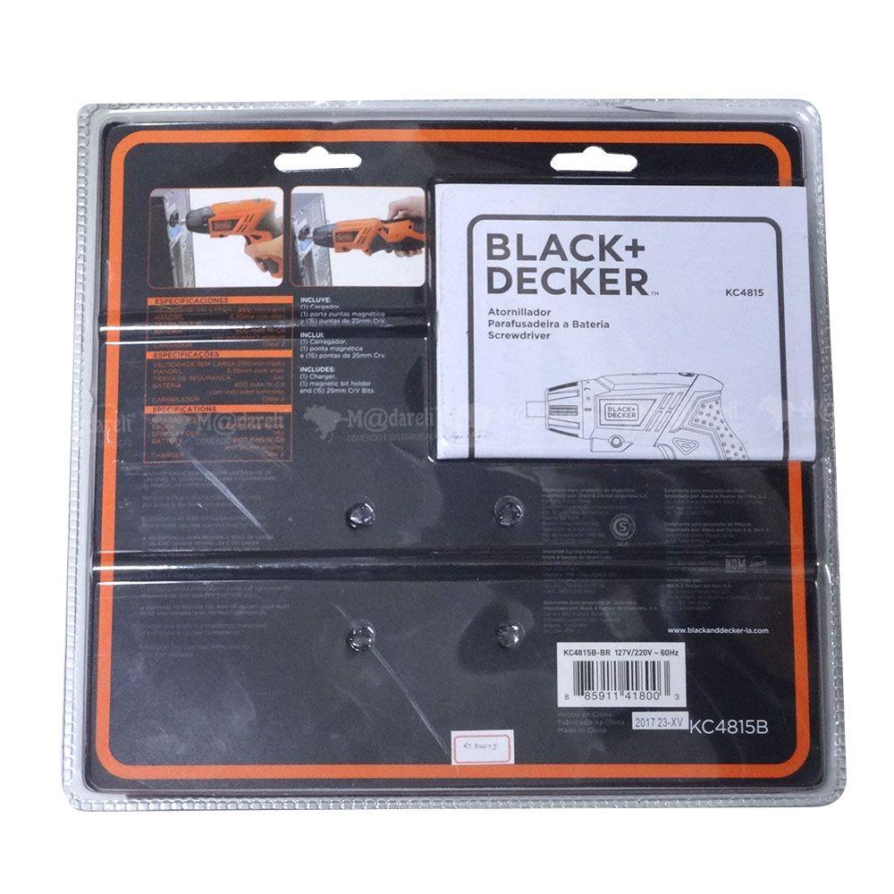 Parafusadeira a Bateria Dobrável 4,8V Bivolt com Luz Led e 16 Peças