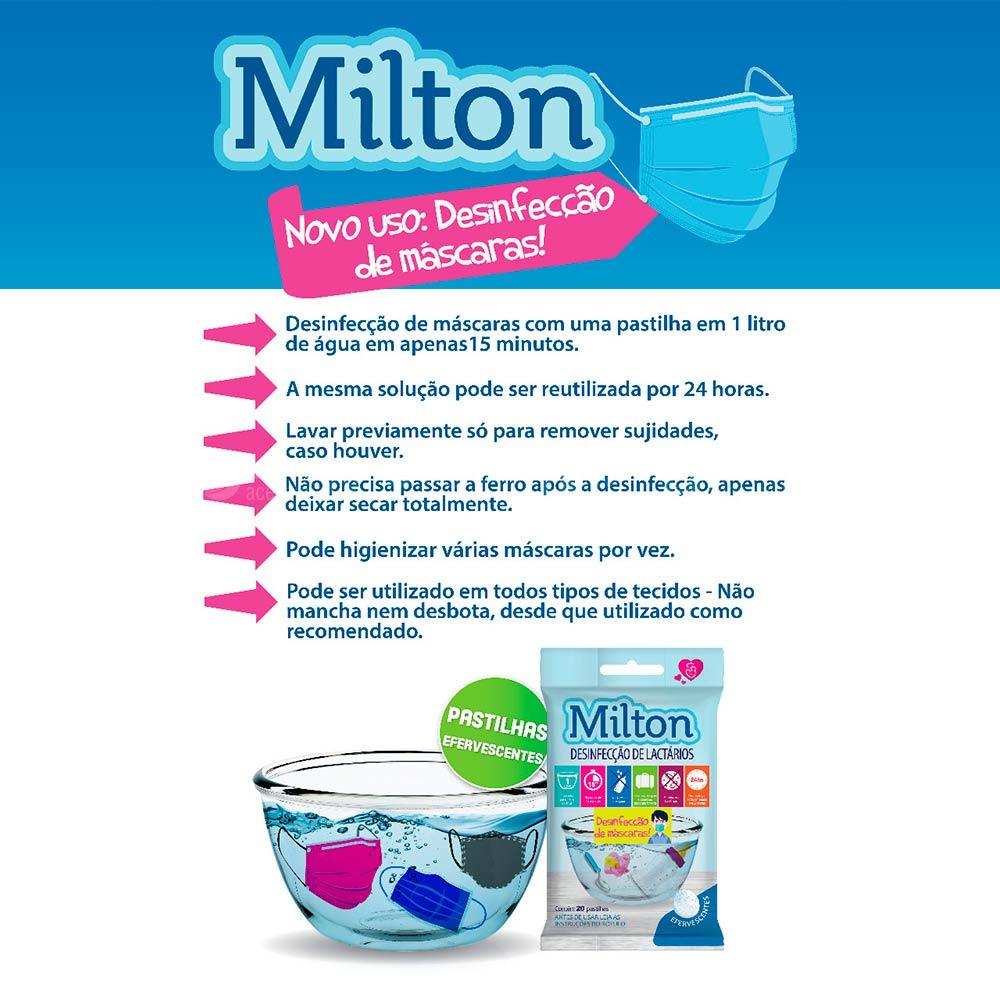 Pastilhas para Desinfecção de Máscaras de Tecido - Milton